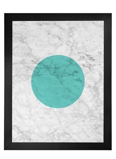 Nordbagen Marble Green Poster Siyah